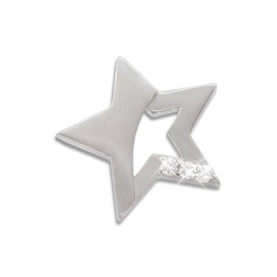 Stern Anhänger mit Zirkonia 925 Silber