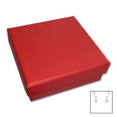 Schmuck Etui für Ohrringe und Ketten rot 60 x 60 x 25 mm