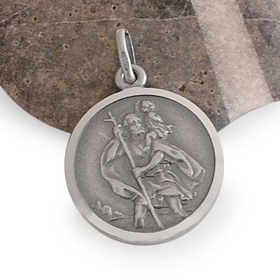 Christophorus Anhänger Medaille 925 Silber