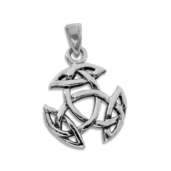 Keltischer Tribalknoten Anhänger 925 Silber
