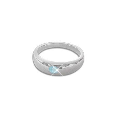 Taufring mit Blautopas hellblau 925 Silber