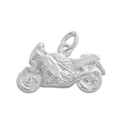 Anhänger Sport Motorrad 925 Silber