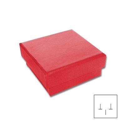 Schmuckschachtel für Ohrstecker rot 45 x 45 x 20 mm