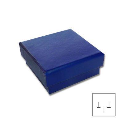 Schmuckschachtel für Ohrstecker blau 45 x 45 x 20 mm