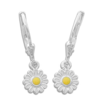 Kinderschmuck Ohrringe Gänseblümchen 925 Silber