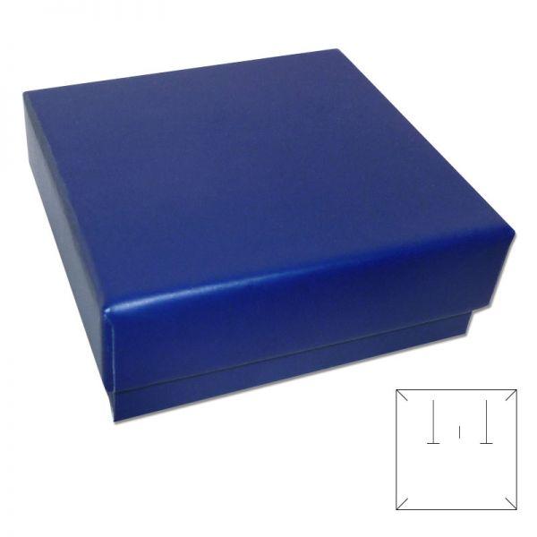Schmuckschachtel blau mit Wendeeinlage 65 x 65 x 21 mm