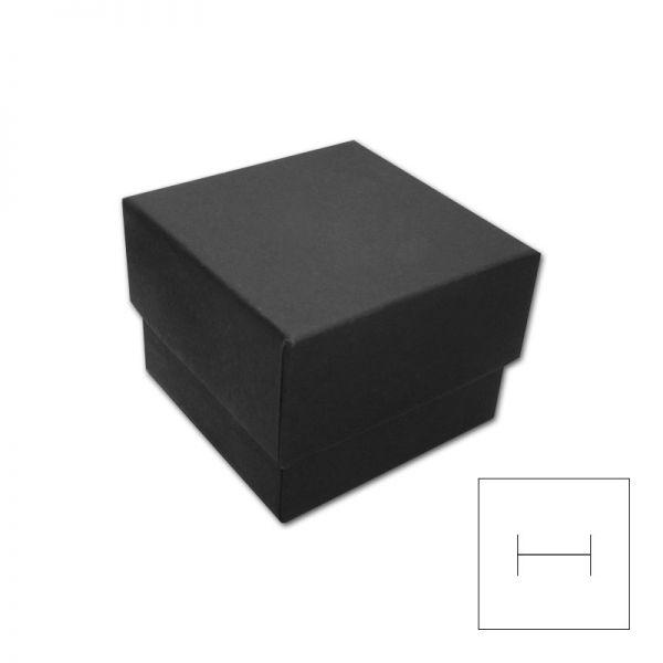 Schmuck Schachtel für Ring oder Ohrstecker schwarz 46 x 46 x 34 mm