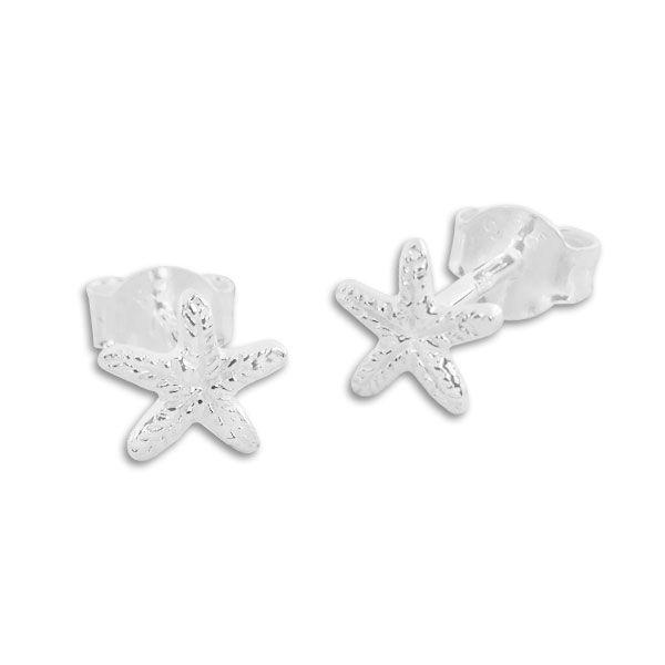 Ohrstecker Ohrringe Seestern matt-glänzend 925 Silber