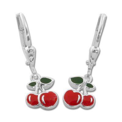 Ohrringe mit Kirschen 925 Silber