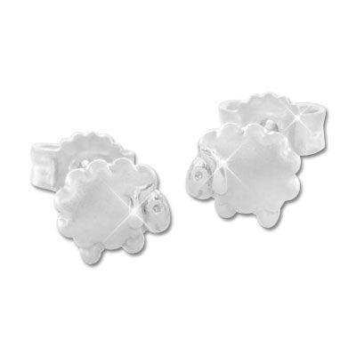 Schaf Ohrstecker 925 Silber Ohrringe mit putzigen Schäfchen