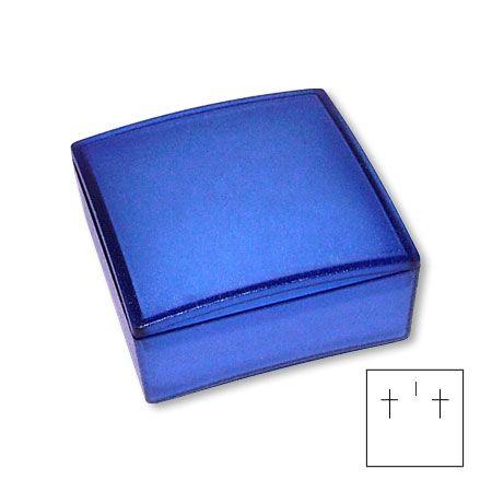 Schmuck Schachtel blau Gr. S Schmucketui aus Kunststoff