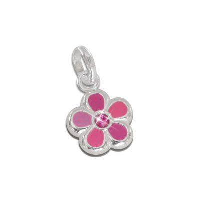 Blumen Anhänger rosa 925 Silber