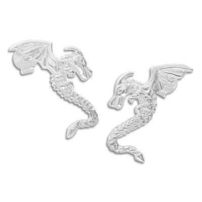 Ohrstecker mit Drachen 925 Silber Ohrringe Silberschmuck