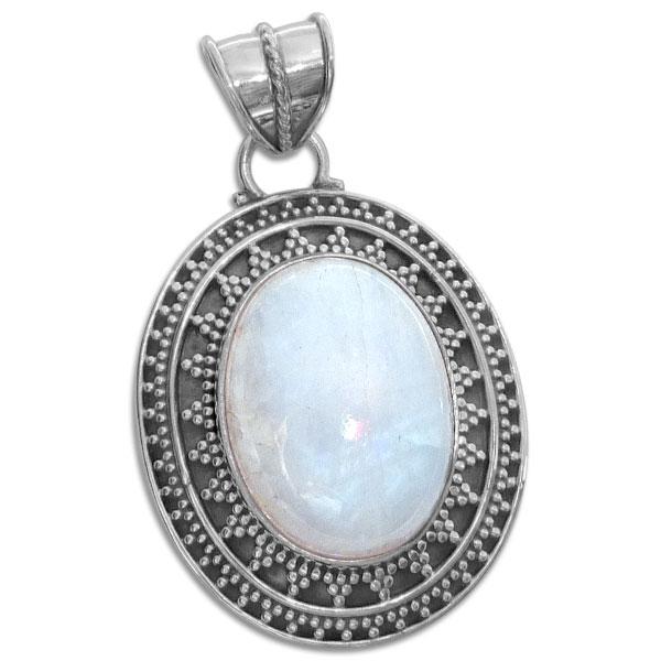 Mondstein Ring 925 Silber Gr 56-60 mattiertes Design facettierter Stein neu