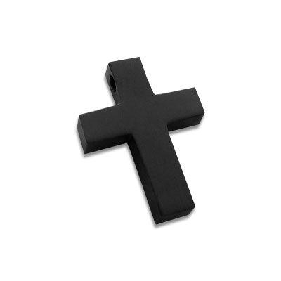Edelstahl Kreuz schwarz matt klein