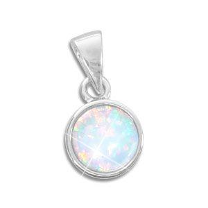 Opal Anhänger 8 mm 925 Silber