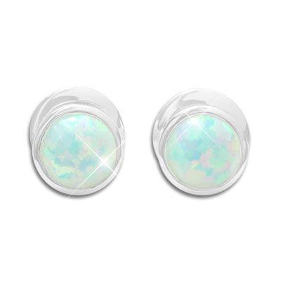 Opal Ohrringe 925 Silber - schimmernde Ohrstecker mit Opalen
