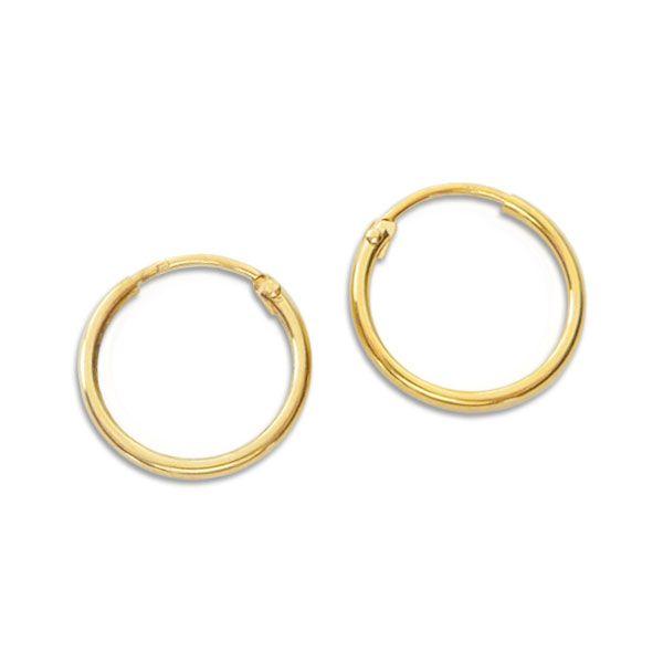 Creolen 333 Gold 15 mm Draht-Creolen für Damen Herren und Kinder