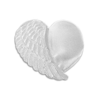Engelsflügel Herz Anhänger 925 Silber