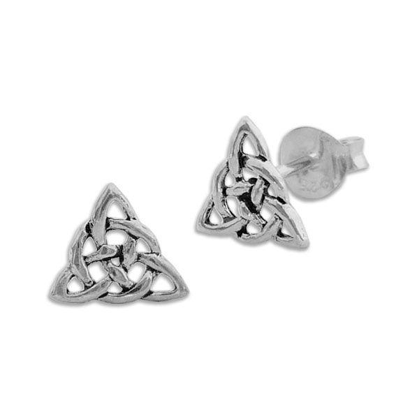 Triquetra Knoten Ohrstecker Ohrringe 925 Silber