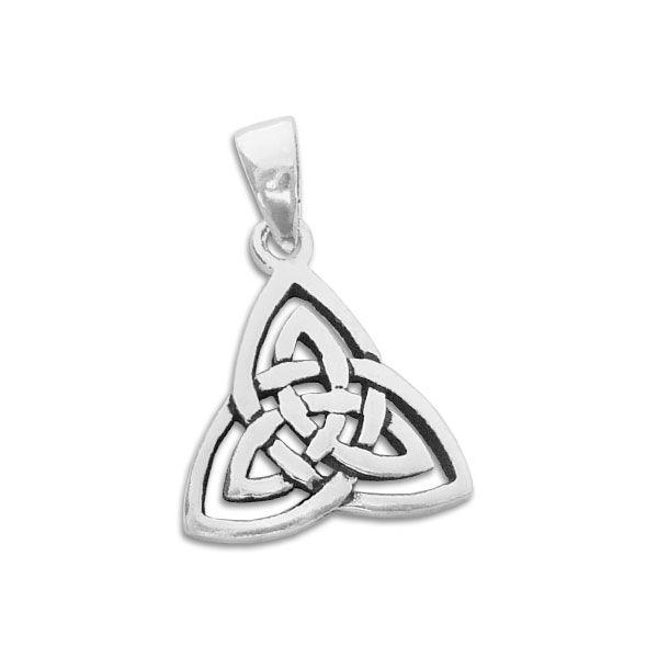 Keltischer Dreiecksknoten Anhänger 925 Silber