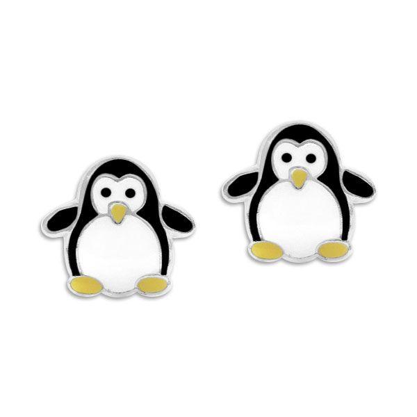 Kinder Ohrstecker Pinguin 925 Silber Ohrringe für Mädchen