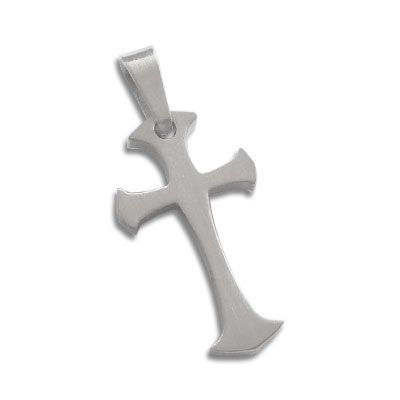 Edelstahl Anhänger Kreuz