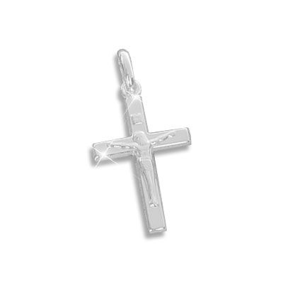 Jesus Kreuz Anhänger 925 Silber