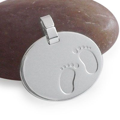 Geburtsanhänger Fußabdrücke 925 Silber
