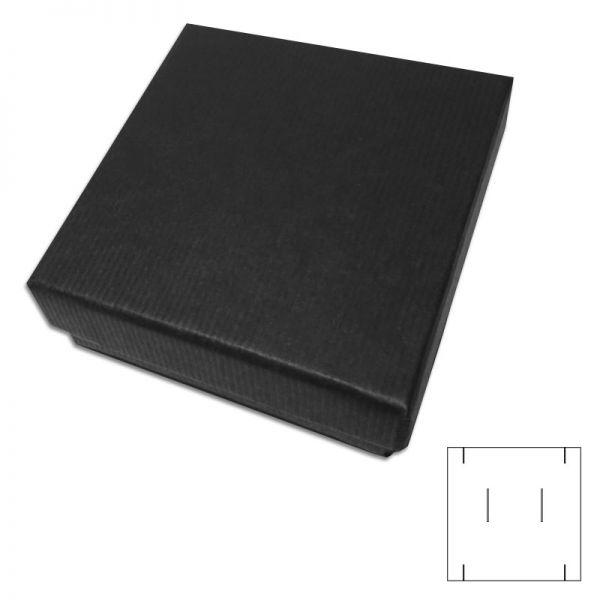 Schwarze Geschenkschachtel für Ketten mit Anhänger und Ohrringe