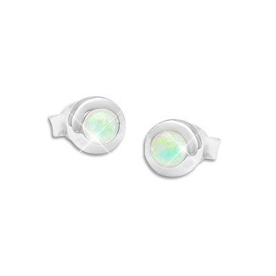Opal Ohrringe Ohrstecker 5 mm 925 Silber