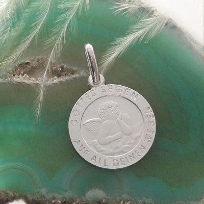 Engel Taufanhänger 925 Silber