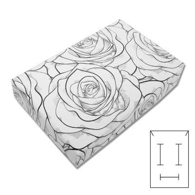 Schmuck Schachtel Rose weiß 55 x 85 x 25 mm