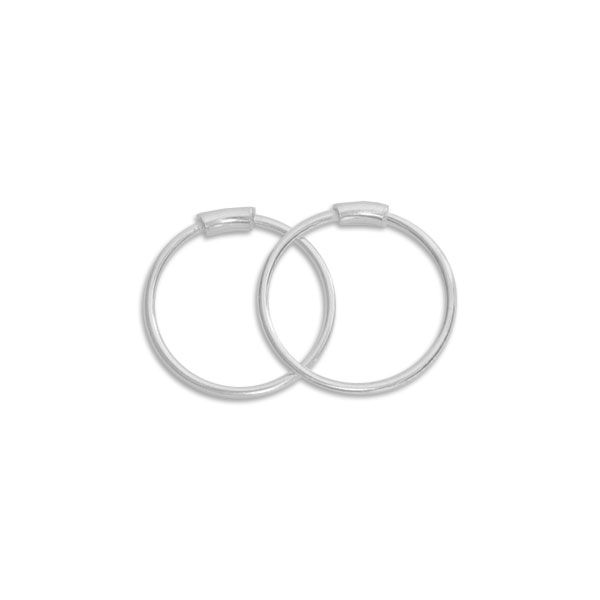 Dünne Draht-Creolen 12 x 0,5 mm 925 Silber