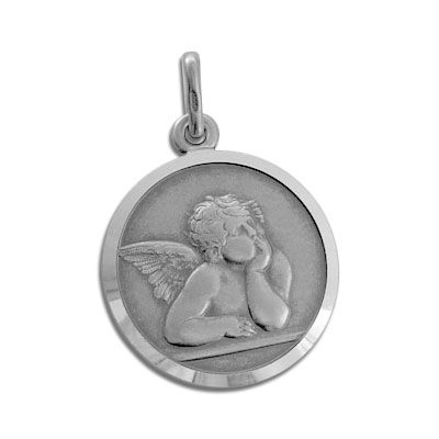 Engel Anhänger Medaille 925 Silber