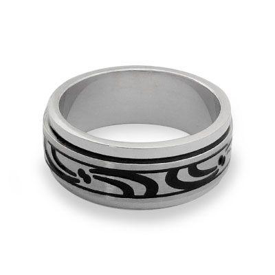 Moving Ring aus Edelstahl Gr. 62