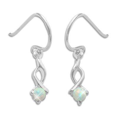 Opal Ohrhänger Ohrringe 24 mm 925 Silber