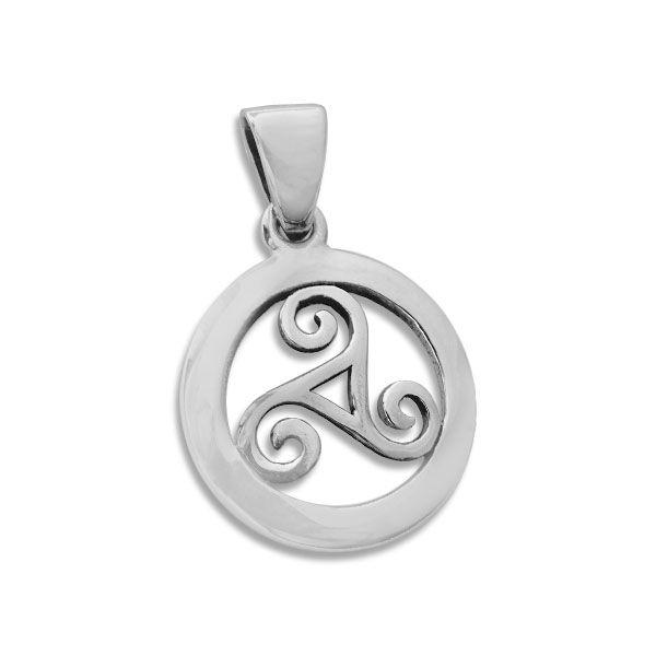 Anhänger Triskele Spirale im Kreis 925 Silber