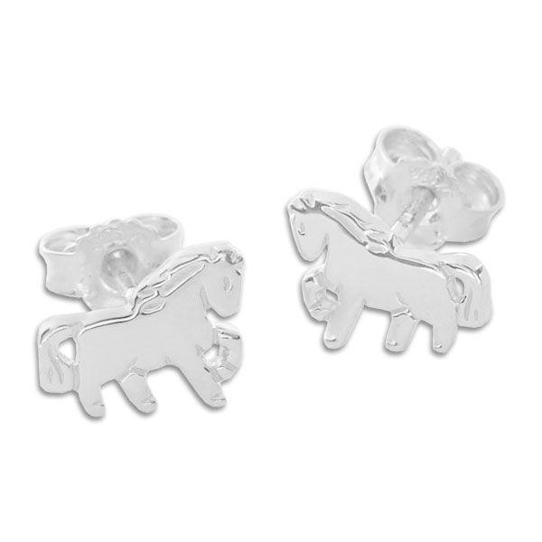 Kinder Ohrringe Ohrstecker Pferde 925 Silber