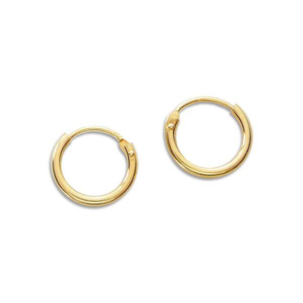 Mini Creolen 333 Gold 9 mm kleine Ohringe für Damen Herren Kinder