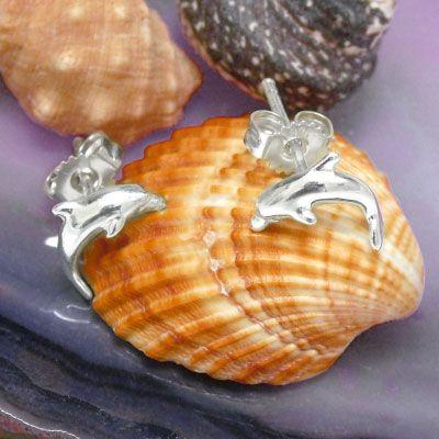 Delfin Ohrringe 925 Silber Delphin Silberschmuck für Kinder und Damen