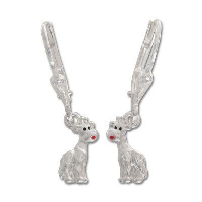 Giraffen Ohrhänger 925 Silber