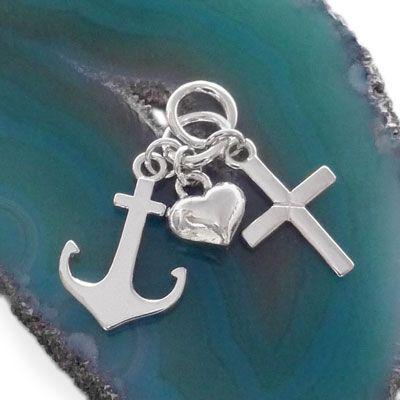 Bettel Anhänger Glaube Liebe Hoffnung 925 Silber
