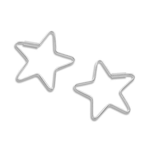 Stern Creolen 22 mm 925 Silber