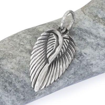 Engelsflügel Anhänger mit 2 beweglichen Flügeln 925 Silber