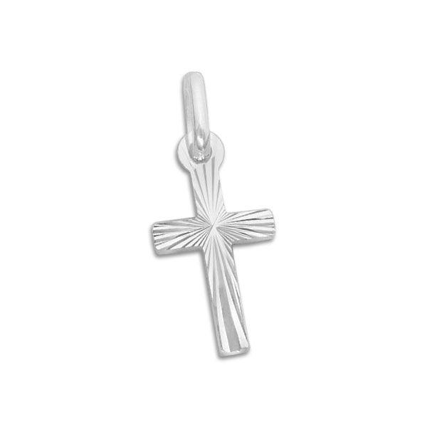Kleiner Taufkreuz Anhänger 925 Silber Geschenk zur Taufe
