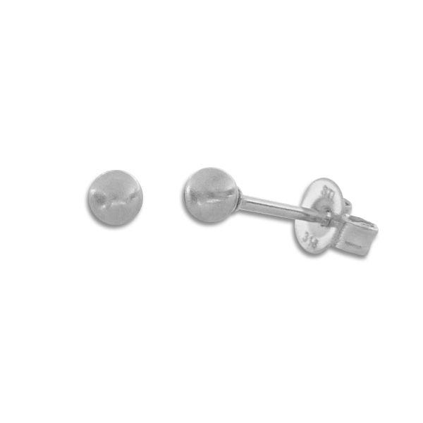 Kleine Kugel Ohrstecker Ohrringe Edelstahl matt 3 mm