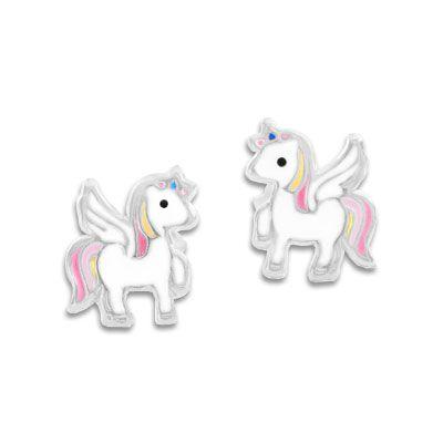 Ohrstecker Alicorn Ohrringe für Kinder Mädchen