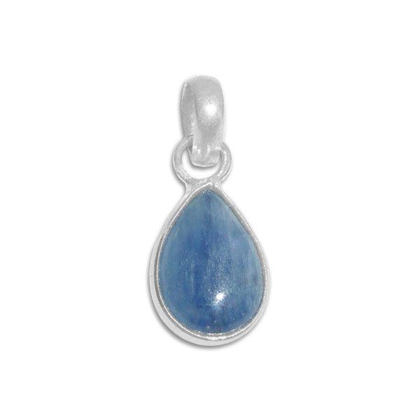 Kyanit Anhänger Tropfen 925 Silber mit blauem Stein