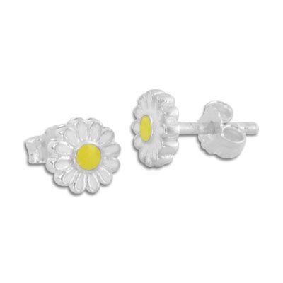 Kinderohrringe Gänseblümchen Ohrstecker 925 Silber für Mädchen